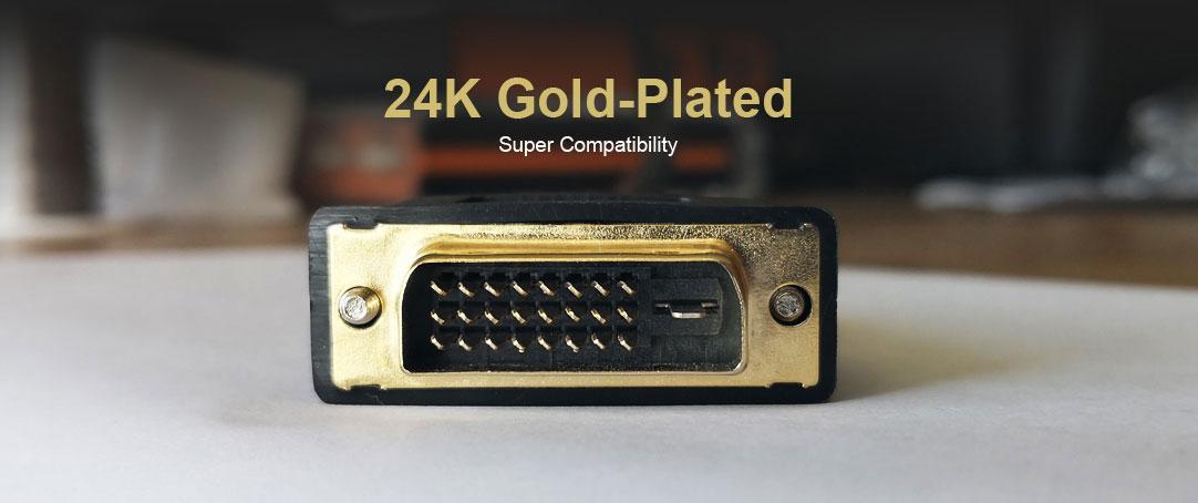 Cáp DVI mạ vàng 24K
